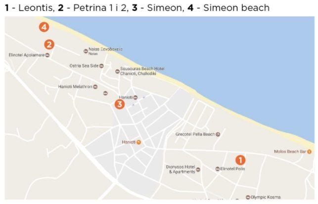 hanioti vila simeon mapa